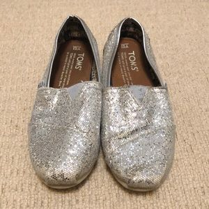 Toms Silver Shoes Youth Size